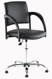 kadeřnická stolička SIGNO pneu chrom