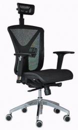 Jedálenská stolička VENGO mesh čierna