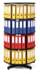 Archivační otočná skříň čtyřpatrová, karusel, barva černá