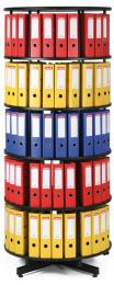 Archivační otočná skříň pětipatrová, karusel, barva černá