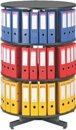 Archivační otočná skříň třípatrová, karusel, barva černá