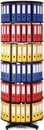 Archivační otočná skříň šestipatrová, karusel, barva černá