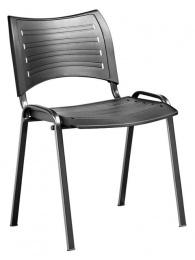 konferenčná stolička 13 plast, kostra čierna