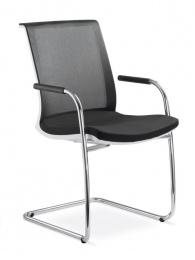 stolička LYRA NET 213-KZ-N2, kostra šedá