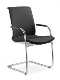Konferenčná stolička LYRA NET 214-Z-N1, kostra čierna