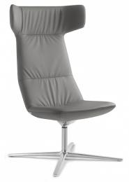 Designové křeslo FLEXI/XL, F27-N6 hliník leštěný