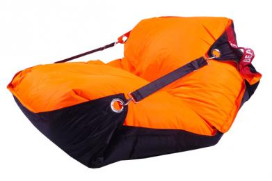 Sedací vak 189x140 duo orange - black