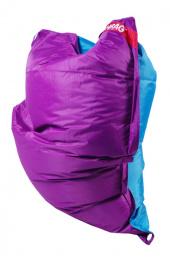 Sedací vak 189x140 duo purple - turquoise
