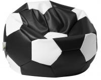 sedací vak EUROBALL MEDIUM černo-bílý