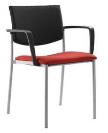 Konferenčná stolička SEANCE 090-N1 BR-N1, kostra čierna