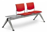 2-lavice se stolkem SEANCE 099/2T-N2, podnož šedá