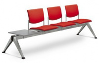 3-lavice se stolkem SEANCE 099/3T-N1, podnož černá