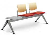 2-lavice se stolkem SEANCE 099/V-2T-N1, podnož čierna
