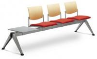 3-lavice se stolkem SEANCE 099/V-3T-N2, podnož šedá