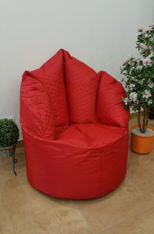 OMNIPULS Sedací pytel Big Queen Chair červený