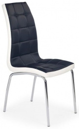 Jedálenská stolička K186 čierno-bielá