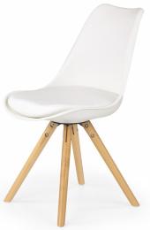 Jedálenská stolička K201 bielá