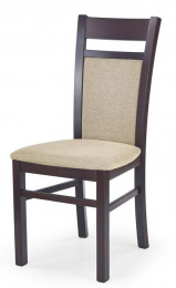 stolička GERARD 2 tm. orech/torent beige