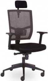 kancelárska stolička ANDY s podhlavníkem čierna AN 833