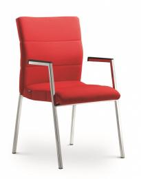 stolička LASER 680-K-N2, kostra efekt hliník