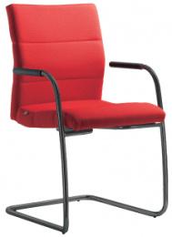 Konferenčná stolička LASER 682-Z-N1, kostra čierna