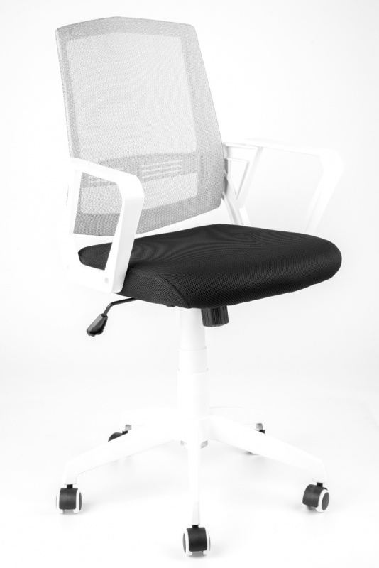 MERCURY židle SUN, bílé područky, bílý opěrák, černý sedák