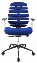 kancelárska stolička FISH BONES sivý plast, modrá 26-39