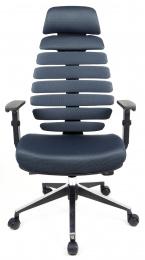 kancelárska stolička FISH BONES PDH čierny plast, šedá  TW12