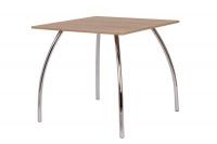 Jídelní stůl DAKO I.,chrom.nohy 80x80 S145