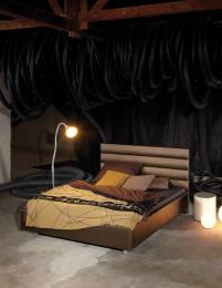 noční stolík kulatý se sklem NS00