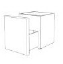 noční stolík se sklem, zásuvka NS50