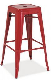 barová kovová stolička LONG HOCKER