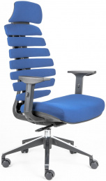 stolička FISH BONES PDH šedý plast, modrá 26-67