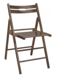 Dřevěná skládací židle SMART ořech