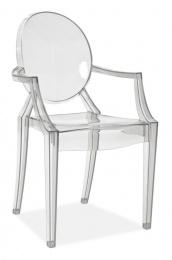 židle LUIS transparentní plast