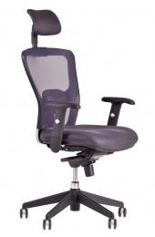 židle  MAGNOLIE 5688A s podhlavníkem ŠEDÁ kancelárská stolička