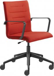 Kancelárska stolička OSLO 227, F80-N1, kríž a područky čierne