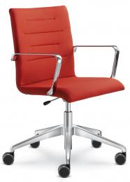 Kancelárska stolička OSLO 227-F80-N0, kríž a područky bílé