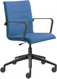 Kancelárská stolička OSLO 227-RA,F80-N1, kríž a područky čierny