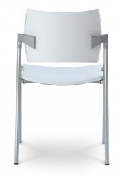 konferenčná stolička DREAM 111/B-N1 plast, kostra čierna, područky