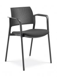 konferenčná stolička DREAM+ 100-BL/B-N1, kostra čierna