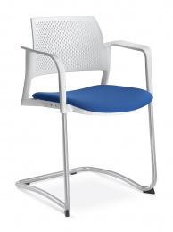 stolička DREAM+ 101-WH/B-N2, kostra šedá
