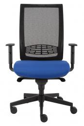 kancelárska stolička KENT SÍŤ, T-SYNCHRO čierna konstrukce