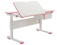 Rostoucí dětský psací stůl FUXO -růžový