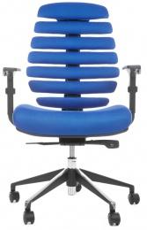 židle FISH BONES černý plast,modrá látka TW10, SLEVA č.38 kancelárská stolička