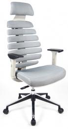 židle FISH BONES PDH šedý plast, šedá SH04, SLEVA č.536 kancelárská stolička