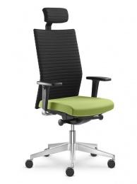 židle ELEMENT 435-SYS, červeno-černá, SLEVA č.541 kancelárská stolička