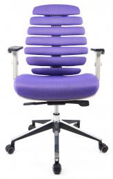kancelárska stolička FISH BONES šedý plast, světlá látka FX2054-05_