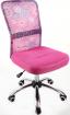 Dětská židle DINGO - barva růžová kancelárská stolička