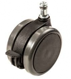 Kolečko zátěžové s manuální brzdou, průměr 75mm, čep 11mm